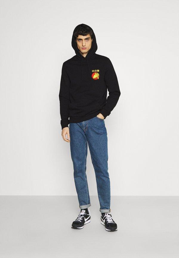 Pier One Bluza z kapturem - black/czarny Odzież Męska TYRP