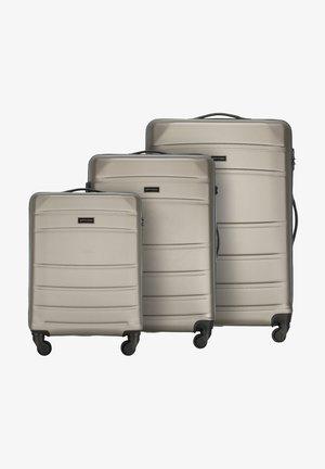 SET - Wheeled suitcase - beige