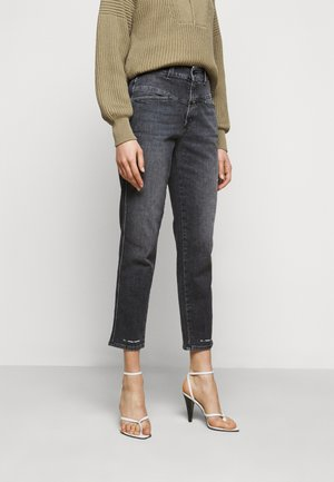 PEDAL PUSHER - Straight leg jeans - dark grey