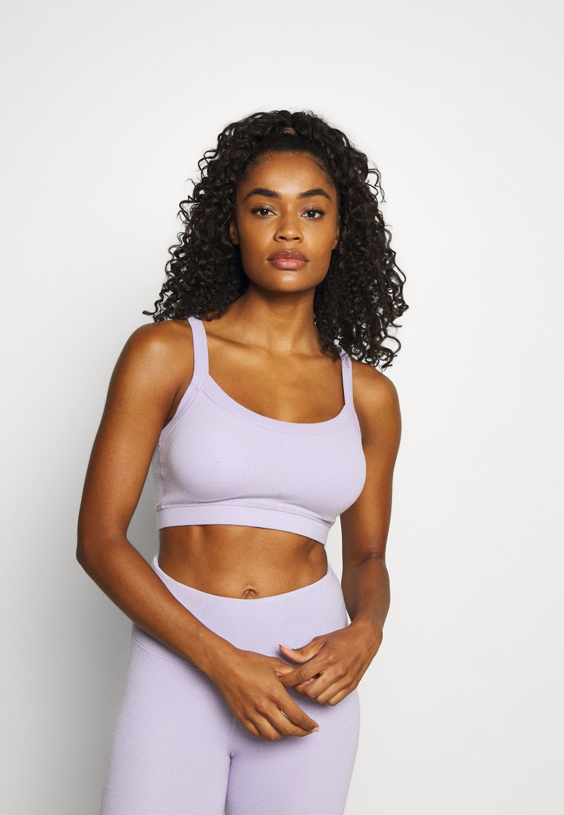 Cotton On Body - TEXTURED CROP - Light support sports bra - lilac dream