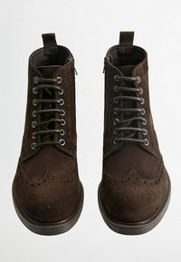 Mango - PICADOS - Lace-up ankle boots - braun - 1
