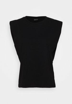 CHARLIE TANK - Basic T-shirt - black