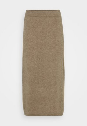 SKIRT - Pencil skirt - mink