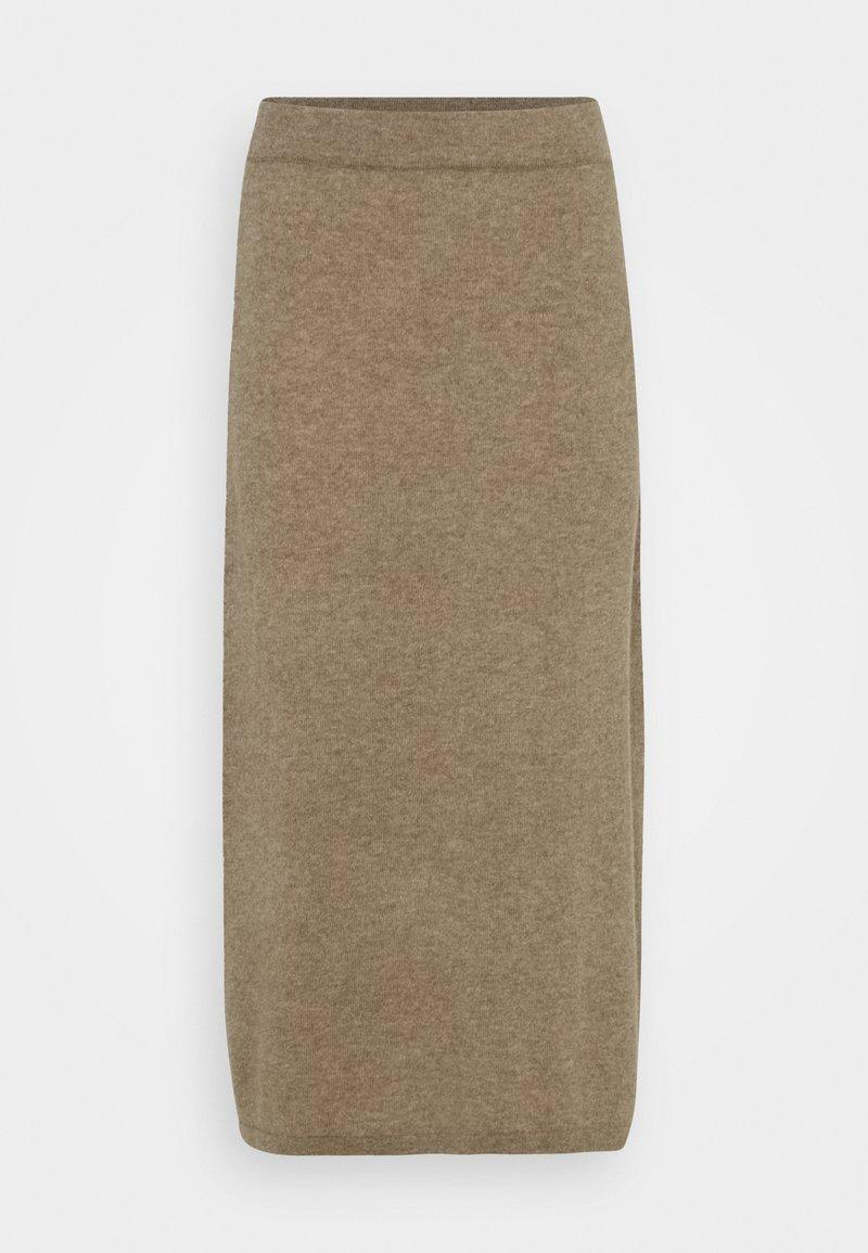 Davida Cashmere - SKIRT - Pencil skirt - mink