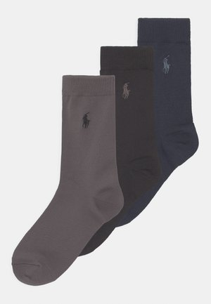 SUPERSOFT CREW 3 PACK - Socks - navy/grey/black solid