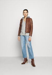 Gipsy - TALIDA - Leather jacket - cognac - 1