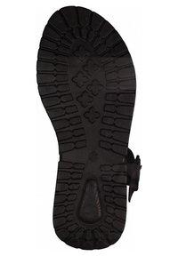 Tamaris - Platform sandals - black uni - 3
