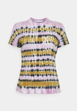 TIE DYE - Print T-shirt - olive/lavendar/black