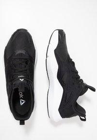 Reebok - SOLE FURY ADAPT - Neutral running shoes - black/white/metallic silver - 1