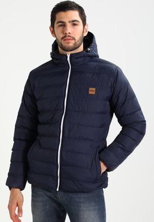 BASIC BUBBLE JACKET - Winter jacket - navy/white/navy