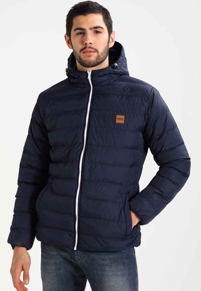 Urban Classics - BASIC BUBBLE JACKET - Winter jacket - navy/white/navy