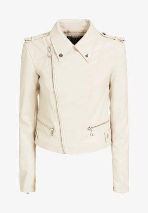 GUESS KUNSTLEDERJACKE - Faux leather jacket - weiß
