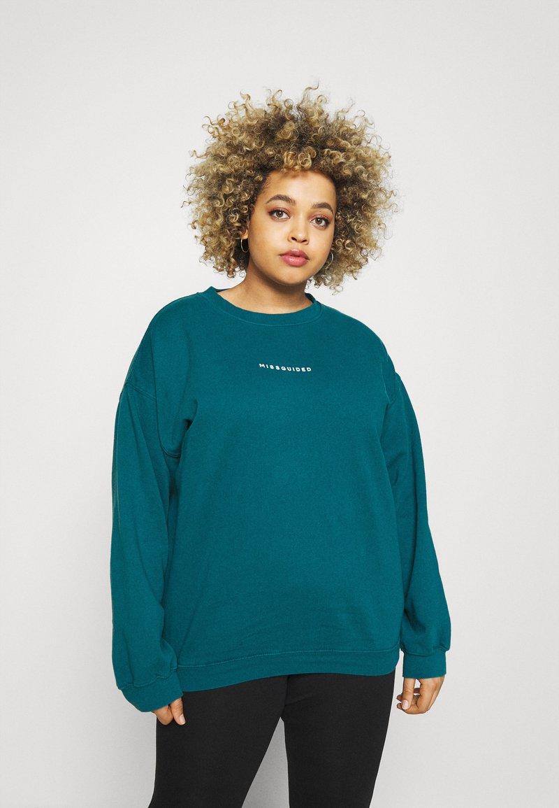 Missguided Plus - WASHED BASIC  - Sweatshirt - blue