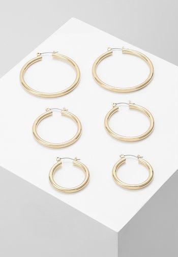 PCSELINDA EARRINGS 3 PACK - Kolczyki - gold-coloured