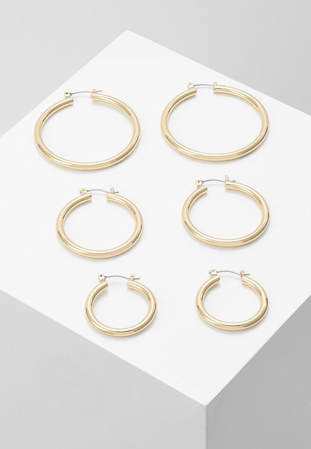 PCSELINDA EARRINGS 3 PACK - Ohrringe - gold-coloured