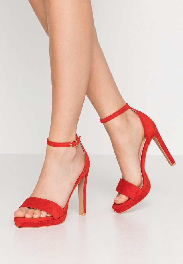CIMONA - High heeled sandals - red