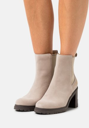 OUTDOOR BOOT - High heeled ankle boots - beige