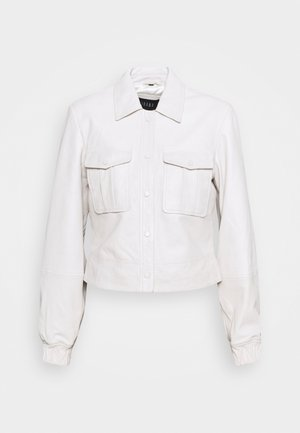 JESS - Leather jacket - antique white