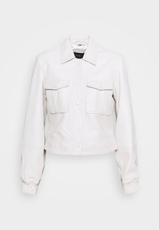 JESS - Veste en cuir - antique white
