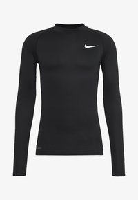 Nike Performance - PRO TIGHT MOCK - Sports shirt - black/white - 3