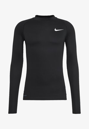 PRO TIGHT MOCK - Sports shirt - black/white
