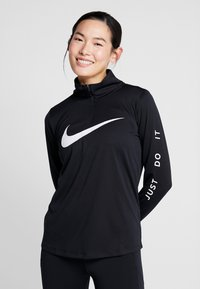 Nike Performance - MIDLAYER RUN - Camiseta de deporte - black/white - 0
