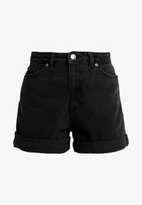 Monki - TALLIE  - Shorts di jeans - washed black - 4