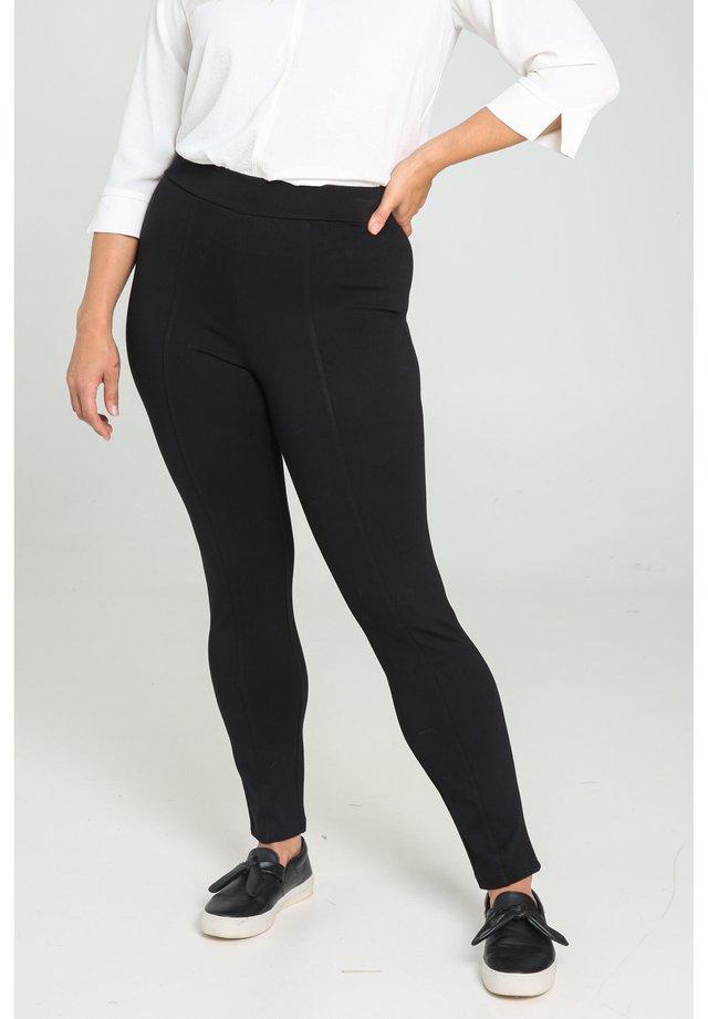 ELEGANTE CITY-HOSE - Spodnie materiałowe - black