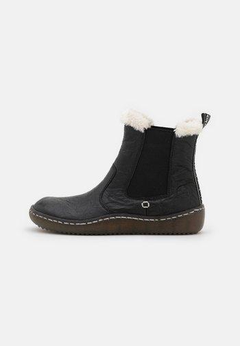 Kotníkové boty - schwarz/bianco