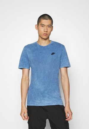 TEE WASHED CLUB - T-shirt med print - stone blue