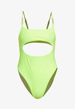 CUT OUT SWIMSUIT - Swimsuit - lime