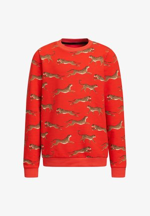 MET LUIPAARDPRINT - Sweater - orange