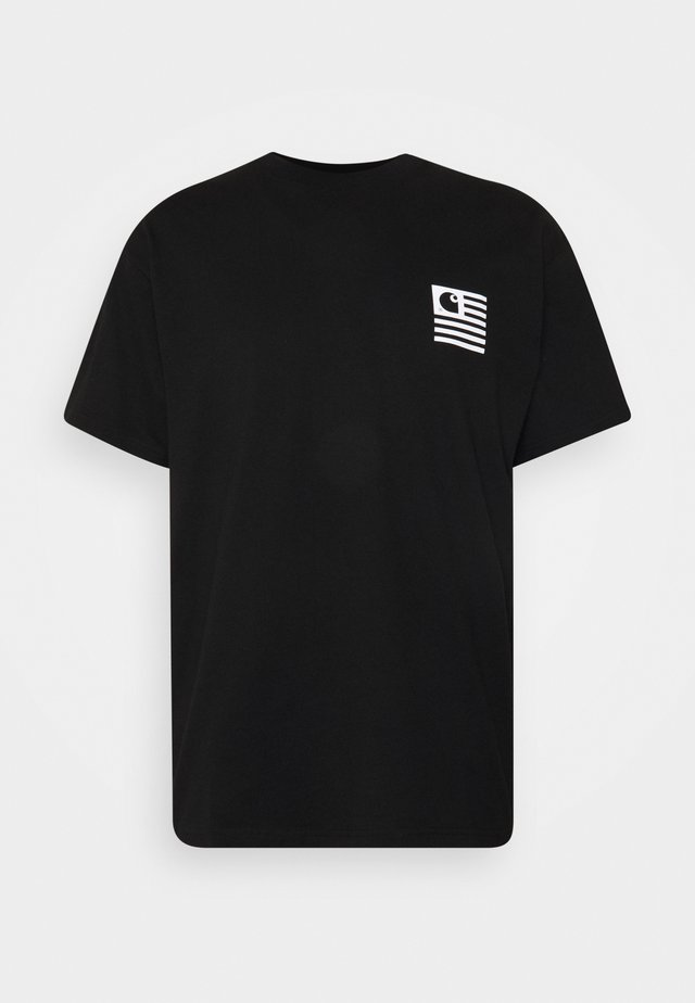 WAVING STATE FLAG  - T-shirt con stampa - black/white