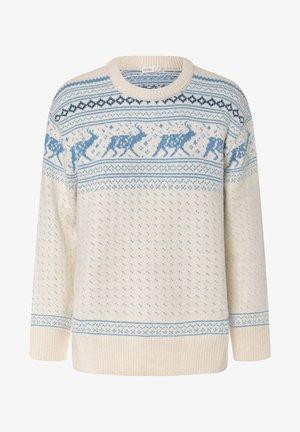 JACQUARD REINDEER CHRISTMAS - Jumper - white