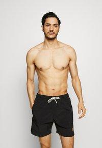Urban Classics - BLOCK SWIM 2 PACK - Swimming shorts - orange/black - 0