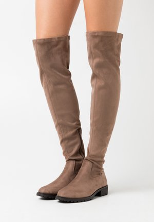 Høye støvler - taupe