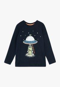 Blue Seven - KIDS GLOW IN THE DARK ALIEN SPACESHIP - Long sleeved top - nachtblau original - 0