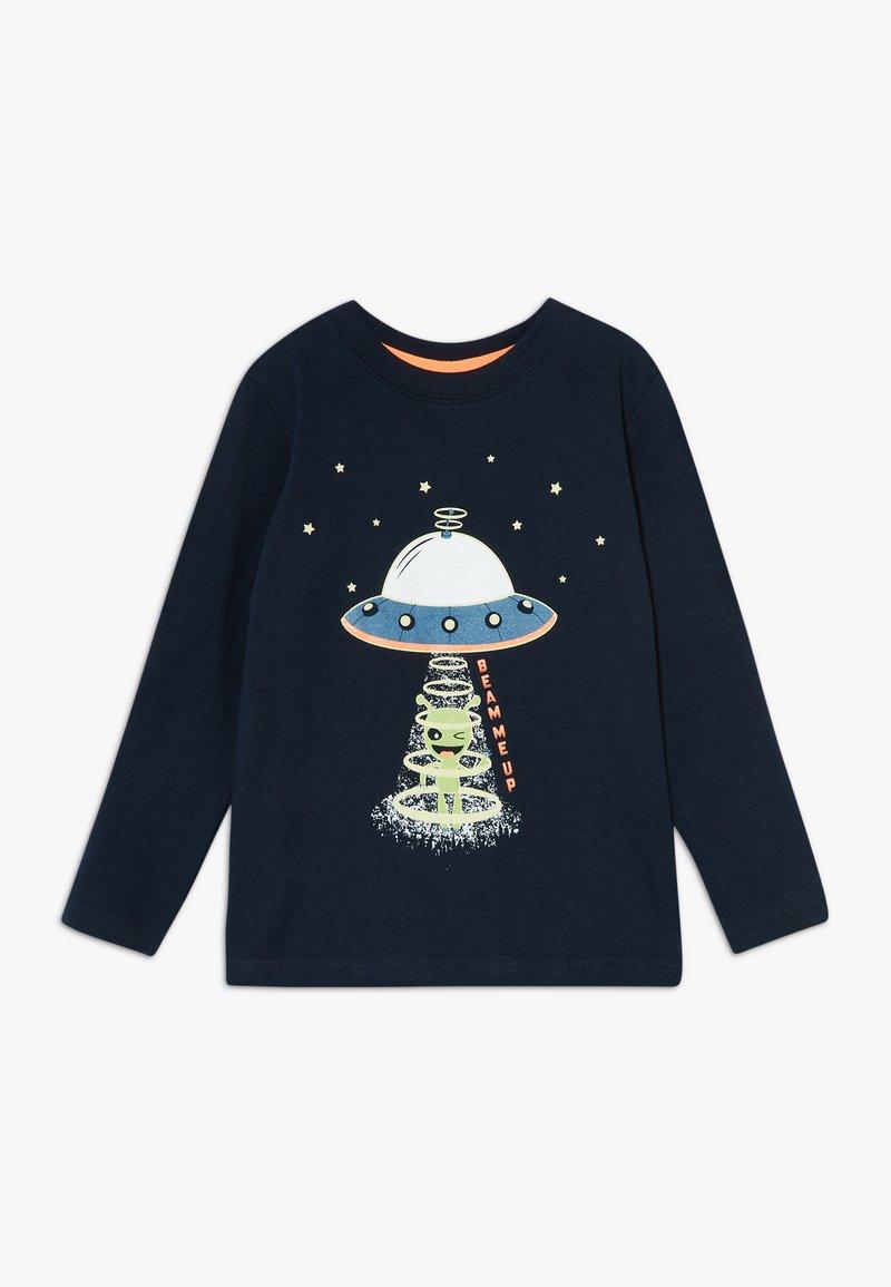 Blue Seven - KIDS GLOW IN THE DARK ALIEN SPACESHIP - Long sleeved top - nachtblau original