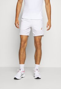 ASICS - TENNIS SHORT - Pantalón corto de deporte - brilliant white/sunrise red - 0