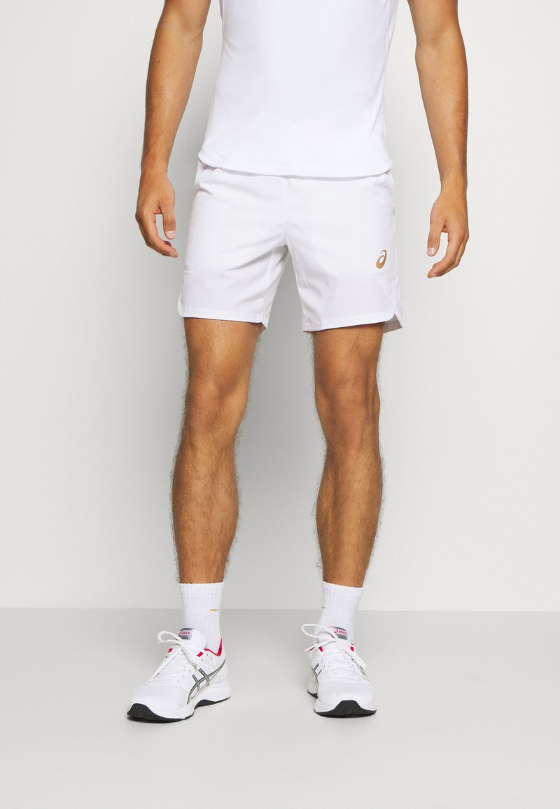 ASICS - TENNIS SHORT - Pantalón corto de deporte - brilliant white/sunrise red