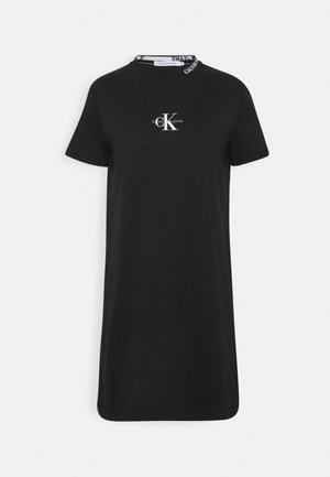 CENTER MONOGRAM DRESS - Vestido ligero - black