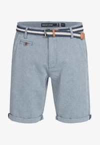 INDICODE JEANS - CASUAL FIT - Shorts - mottled light blue - 5