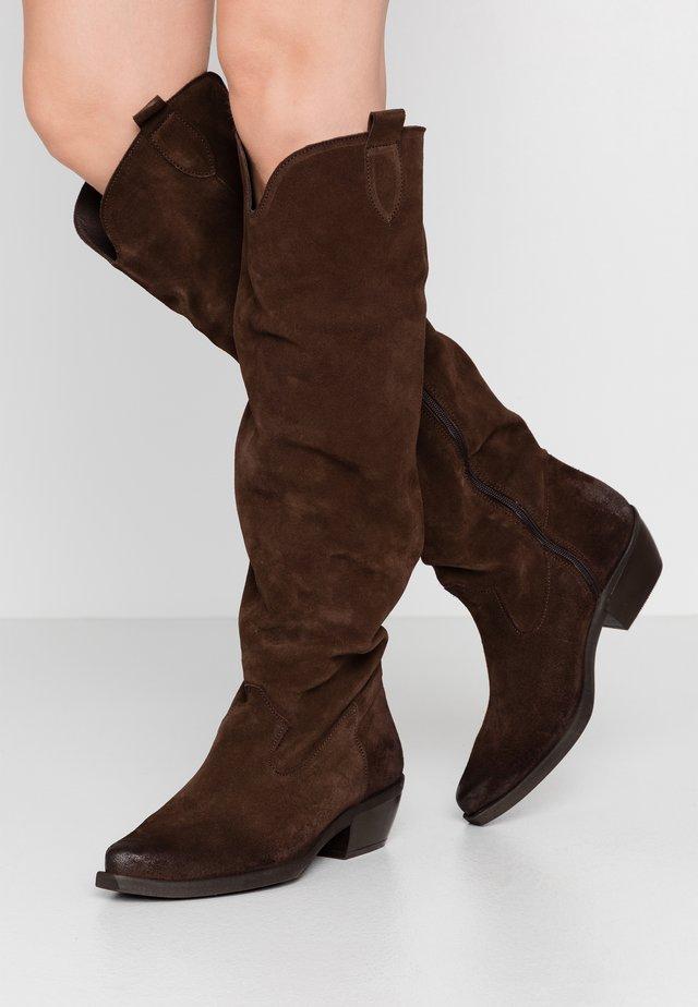 EL PASO - Cowboy/Biker boots - testa di moro