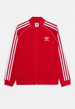 Training jacket - scarlet/white