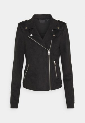 VMBOOSTBIKER JACKET - Faux leather jacket - black