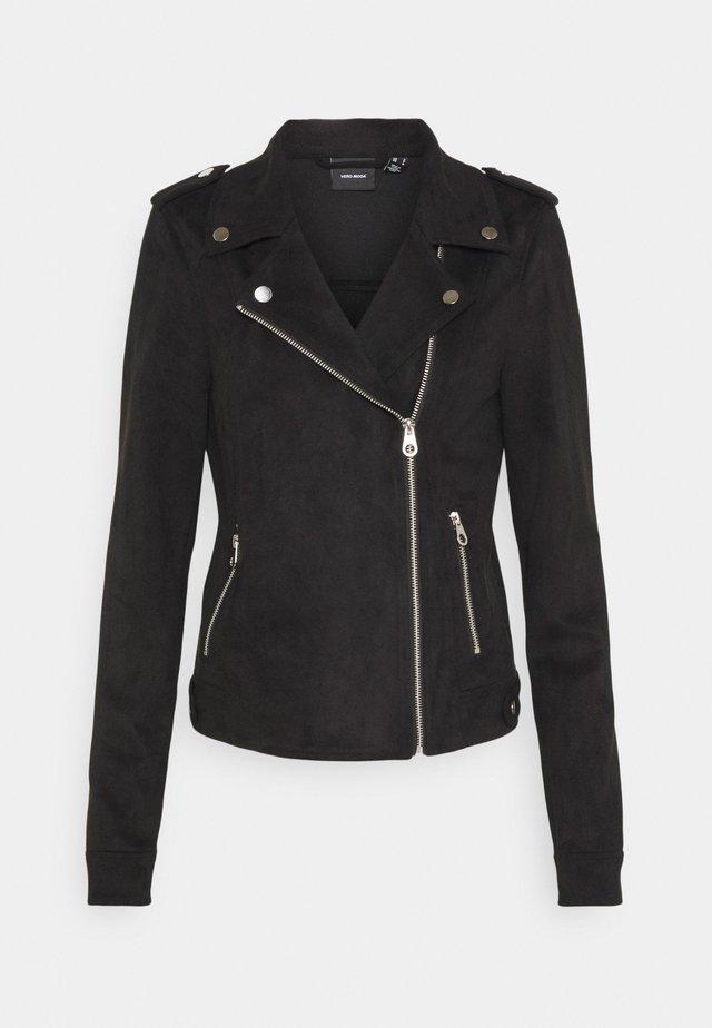 VMBOOSTBIKER JACKET - Faux leather jacket - black