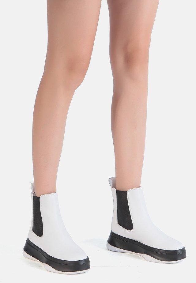 Ankle boots - weiß-schwarz