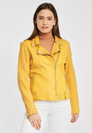 GG FAVOUR LAMAXV - Leather jacket - yellow