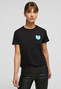KARL LAGERFELD - T-Shirt basic - black - 0