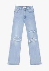 Stradivarius - VINTAGE - Flared jeans - light blue - 4